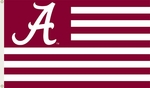 Alabama Crimson Tide 3' X 5' Flag with Grommets - Striped USA Style [95702-FS-BSI]