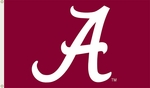 Alabama Crimson Tide Burgundy 3' X 5' Flag with Grommets - Logo Design [95202-FS-BSI]