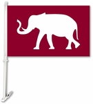 Alabama Crimson Tide Car Flag with Wall Brackett - Mascot Design [37002-FS-BSI]