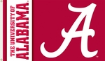 Alabama Crimson Tide Red 3' X 5' Flag with Grommets - Logo Design [95102-FS-BSI]