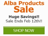 Save now on select Alba Products!!