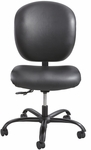 Alday™ 24/7 Big and Tall Vinyl Task Chair with Plastic Ergo Core Back - Black [3391BV-FS-SAF]