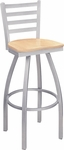 Alden Metal Swivel Bar Stool - Beechwood [269-FS-CMF]