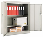Alera® Assembled Welded Storage Cabinet- 36''W x 18''D x 42''H- Light Gray [ALECM4218LG-FS-NAT]