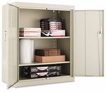 Alera® Assembled Welded Storage Cabinet- 36''W x 18''D x 42''H- Putty [ALECM4218PY-FS-NAT]