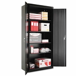 Alera® Assembled 78'' High Storage Cabinet - w/Adjustable Shelves - 36w x 18d - Black [ALECM7818BK-FS-NAT]