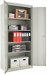 Alera® Assembled Welded Storage Cabinet- 36''W x 18''D x 78''H- Light Gray [ALECM7818LG-FS-NAT]