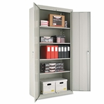 Alera® Assembled 78'' High Storage Cabinet - w/Adjustable Shelves - 36w x 18d - Light Gray [ALECM7818LG-FS-NAT]