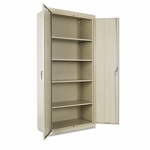Alera® Assembled 78'' High Storage Cabinet - w/Adjustable Shelves - 36w x 18d - Putty [ALECM7818PY-FS-NAT]