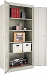 Alera® Assembled Welded Storage Cabinet- 36''W x 24''D x 78''H- Light Gray [ALECM7824LG-FS-NAT]
