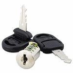 Alera® Core Removable Lock and Key Set - Silver - Two Keys/Set [ALEVA501111-FS-NAT]