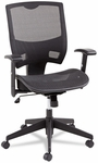 Alera® Epoch Series All Mesh Multifunction Mid-Back Chair- Black Back/Seat [ALEEP4218-FS-NAT]