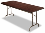 Alera® Folding Table- Rectangular- 72''W x 30''D x 29''H- Walnut [ALEFT727230WA-FS-NAT]