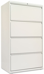 Alera® Four-Drawer Lateral File Cabinet - 30w x 19-1/4d x 53-1/4h - Light Gray [ALELF3054LG-FS-NAT]