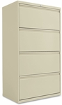 Alera® Four-Drawer Lateral File Cabinet- 30''W x 19-1/4''D x 54''H- Putty [ALELF3054PY-FS-NAT]