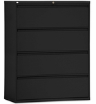 Alera® Four-Drawer Lateral File Cabinet - 42w x 19-1/4d x 53-1/4h - Black [ALELF4254BL-FS-NAT]