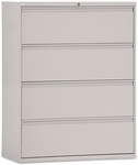 Alera® Four-Drawer Lateral File Cabinet- 42''W x 19-1/4''D x 54''H- Light Gray [ALELF4254LG-FS-NAT]