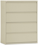 Alera® Four-Drawer Lateral File Cabinet- 42''W x 19-1/4''D x 54''H- Putty [ALELF4254PY-FS-NAT]