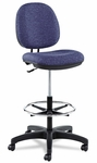 Alera® Interval Series Swivel Task Stool - Tone-On-Tone Fabric - Marine Blue [ALEIN4621-FS-NAT]