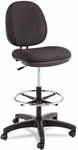 Alera® Interval Series Swivel Task Stool- 100% Acrylic With Tone-On-Tone Pattern- Black [ALEIN4611-FS-NAT]