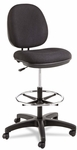 Alera® Interval Series Swivel Task Stool - 100% Acrylic With Tone-On-Tone Pattern - Black [ALEIN4611-FS-NAT]