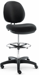 Alera® Interval Series Swivel Task Stool- PVC-Free Faux Leather- Black [ALEIN4616-FS-NAT]