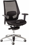 Alera® K8 Series Ergonomic Multifunction Mesh Chair- Aluminum Base/Frame- Black [ALEKE4218-FS-NAT]
