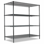 Alera® All-Purpose Wire Shelving Starter Kit - Four-Shelf - 60''W x 24''D x 72''H - Green [ALESW206024GN-FS-NAT]
