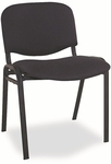 Alera® Continental Series Stacking Chairs - Black Fabric Upholstery - 4/Carton [ALESC67FA10B-FS-NAT]