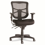 Alera® Elusion Series Mesh Mid-Back Multifunction Chair - Black [ALEEL42ME10B-FS-NAT]
