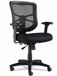 Alera® Elusion Series Mesh Mid-Back Swivel/Tilt Chair - Black [ALEEL42BME10B-FS-NAT]
