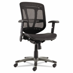 Alera® Eon Series Multifunction Wire Mechanism - Mid-Back Suspension Mesh Chair - Black [ALEEN4218-FS-NAT]