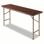 Alera® Folding Table - Rectangular - 60''W x 18''D x 29''H m- Walnut [ALEFT726018WA-FS-NAT]