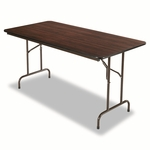 Alera® Wood Folding Table - Rectangular - 60w x 30d x 29h - Walnut [ALEFT726030WA-FS-NAT]
