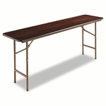 Alera® Folding Table - Rectangular - 72''W x 18''D x 29''H - Walnut [ALEFT727218WA-FS-NAT]