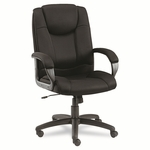 Alera® Logan Series Mesh High-Back Swivel/Tilt Chair - Black [ALELG41ME10B-FS-NAT]
