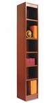 Alera® Narrow Profile Bookcase - Wood Veneer - Six-Shelf - 12w x 72h - Medium Cherry [ALEBCS67212MC-FS-NAT]