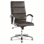 Alera® Neratoli High-Back Swivel/Tilt Chair - Black Leather [ALENR4119-FS-NAT]