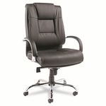 Alera® Ravino Big & Tall Series High-Back Swivel/Tilt Leather Chair - Black [ALERV44LS10C-FS-NAT]