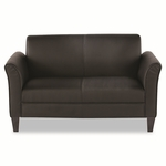 Alera® Reception Lounge Furniture - 2-Cushion Loveseat - 55-1/2''W x 31-1/2''D x 32''H - Black [ALERL22LS10B-FS-NAT]