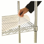 Alera® Shelf Liners For Wire Shelving - 48''W x 18''D - Clear Plastic - Set of 4 [ALESW59SL4818-FS-NAT]