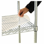 Alera® Shelf Liners For Wire Shelving - Clear Plastic - 48w x 24d - 4/Pack [ALESW59SL4824-FS-NAT]