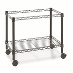 Alera® Single-Tier Rolling File Cart - 24''W x 14''D x 21''H - Black [ALEFW601424BL-FS-NAT]