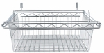 Alera® Sliding Wire Basket For Wire Shelving - 18w x 18d x 8h - Silver [ALESW59WB1818SR-FS-NAT]