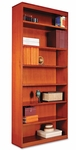 Alera® Square Corner Wood Bookcase - Seven-Shelf - 35-5/8 x 11-3/4 x 84 - Medium Cherry [ALEBCS78436MC-FS-NAT]