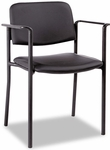 Alera® Sorrento Series Stacking Guest Chair - PVC-Free Faux Leather - Black [ALEUT49CS10B-FS-NAT]