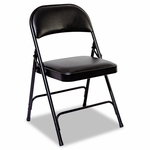 Alera® Steel Folding Chair with Padded Back/Seat - Graphite - 4/Carton [ALEFC96B-FS-NAT]