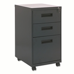 Alera® Three-Drawer Metal Pedestal File - 16w x 19-1/2d x 28-1/2h - Charcoal [ALEPA532820CH-FS-NAT]