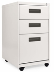 Alera® Three-Drawer Metal Pedestal File - 16w x 19-1/2d x 28-1/2h - Light Gray [ALEPA532820LG-FS-NAT]