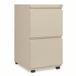 Alera® Two-Drawer Mobile Pedestal File With Full-Length Pull - 15-7/8''W x 19-1/4''D - Putty [ALEPB542819PY-FS-NAT]